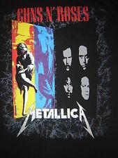 Vintage Concert T-Shirt GUNS N ROSES METALLICA 92 NEVER  WORN NEVER WASHED