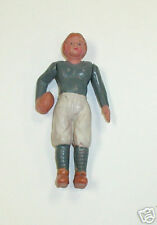 Celluloid football player souvenir doll, 4 in. poseable