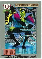 Jon Bogdanove SIGNED DC 1991 Superman Man of Steel Art Card ~ Brainiac