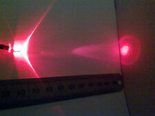 12V Bright Red LED Light, Pre-Wired 12 Volt, 5mm Diameter With Clear Lens