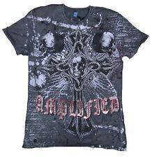 Amplified SAINT&SINNER Gothic Cross Skull King Strass Rock Star T-Shirt g.M 50