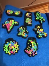 "Lot of 8 FUNKY CHUNKY tie dye hippie psychedelic Foam Stamps 4"" to 5"" very cool"