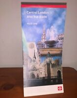 LONDON TRANSPORT BUSES CENTRAL BUS GUIDE MAP WESTMINSTER CITY WEST END MAR. 1998