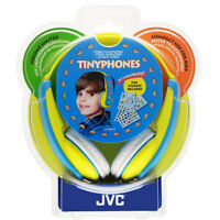 JVC Boys Tiny Phones Yellow/Blue Headphones, decorated with supplied stickers 4+