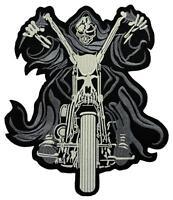 #16 Ghost Rider Backpatch Rückenaufnäher Aufnäher Biker MC Kutte 21,5 x 25,5 cm