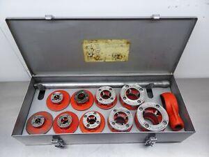 "RIDGID 36505  1/8""-2"" 12R Pipe Threading Threader Die Set Kit Rigid Steel Case"