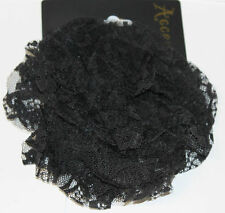 NEW SMALL BLACK LACE HAIR CLIP FASCINATOR FROM MONSOON ACCESSORIZE BNWT £10.00