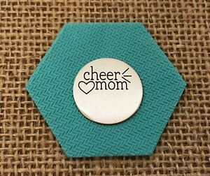 """Authentic Origami Owl Large Silver """"Cheer Mom"""" Plate"""