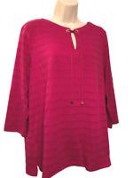 Jones New York Women's Blouse Size XL Long Sleeve Pullover Top