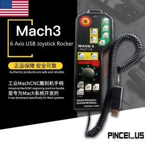 Handheld Mach3 6 Axis USB Joystick Rocker Electronic Handwheel for CNC US
