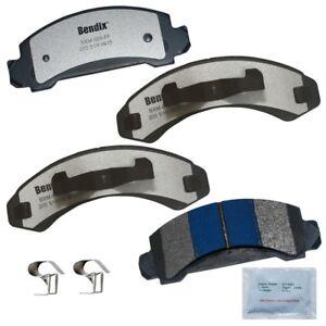 SMD387H Front Semi-Metallic Brake Pads+Hardware