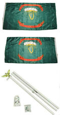 3x5 1st Irish Brigade Ireland 2ply Flag White Pole Kit Set 3'x5'