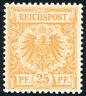 DR 1890, MiNr. 49 b, tadellos postfrisch, gepr. Wiegand, Mi. 170,-