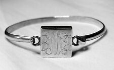 Vintage Ladies Real Solid 925 Sterling Silver Bangle Bracelet Mexico 18.36g
