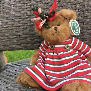 "2005 Bearington Bears  14"" Retired Plush Teddy Bear Christmas No Offers"