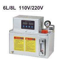 6L/8L Electric Automatic Lubrication Pump CNC Digital Lubrication Oil Pump 25W