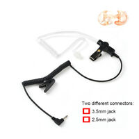 3.5mm or 2.5mm Listen Only Acoustic Tube Earpiece +M Earbud for 2-way Radio MP3