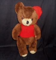 "16"" VINTAGE COMMONWEALTH BROWN JOINTED TEDDY BEAR STUFFED ANIMAL PLUSH OLD TOY"