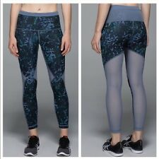 Lululemon Running In The City 7/8 Tight Floral / Mesh Full On Luxtreme SIZE 8