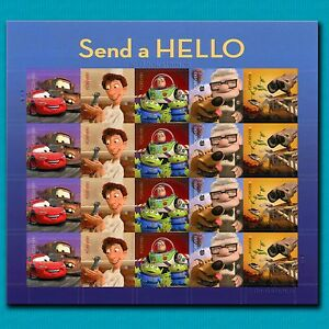 20 Pixar Forever Stamps Sheet Disney Toy Story Buzz Cars Wall-E UP Send a Hello