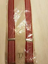2,5 cm Breit 3 Clips fest Hosenträger Damen Herren Hosen Träger Uni Farbe Rot