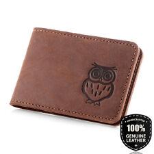 Surazo® Echtes Leder Kleine Bifold Kartenetui Kartenalter Geldbörse Card Holder