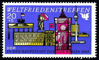 1479 postfrisch DDR Briefmarke Stamp East Germany GDR Year Jahrgang 1969