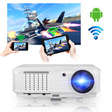 4500LM LED Home Video Projector Built-In Android WiFi HDMI USB Movie TV 1280*800