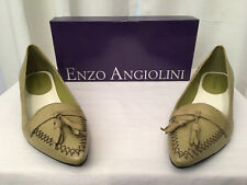 ENZO ANGIOLINI Womens Ealeilani Light Green Leather Slip-On Pump, Size 8M, NIB