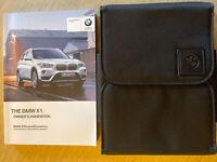 BMW X1 OWNER MANUAL HANDBOOK & BMW WALLET CASE GENUINE BMW X1