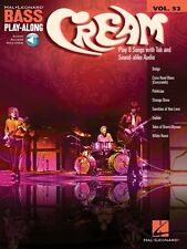 Cream Sheet Music Bass Play-Along Book and Audio NEW 000146159