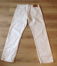 LEVI'S 501 JEANS SIZE 35 X 32 BRIGHT WHITE MADE IN USA VGC SEE DESCRIPTION