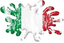 Distressed Aged 3D Effect SPLAT With Italy Italian Flag car sticker Decal