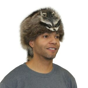 Glacier Wear Raccoon Fur Davy Crockett Hat hts1780