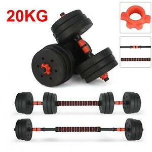 20KG FITNESS DUMBELLS PAIR OF WEIGHTS BARBELL DUMBBELL BODY BUILDING SET UK NEW