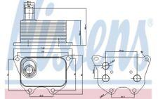 NISSENS Radiador de aceite motor 90659