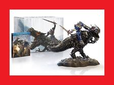 NEW SEALED Transformers Age of Extinction Blu-Ray Grimlock Optimus Prime Statue