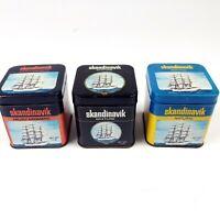 Vintage Tobacco Tins Skandinavik Set of 3 General Cigar & Tobacco