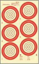 """(50) IBS300HR 300 Yard Hunter Rifle Target, Red on Heavy Paper, 19.5"""" x 31"""""""