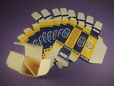 10 x TESLA BLANK CARTON BOX for Audio Tubes ECC83 ECC803S E188CC ECC85 EF86