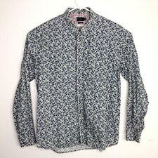 Paul Smith Jeans L/S Shirt Slim Fit SZ 2XL Floral Flip Cuff Multicolor Organic
