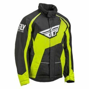 Fly Racing Men's Outpost Jacket-Black/Hi-Vis LARGE
