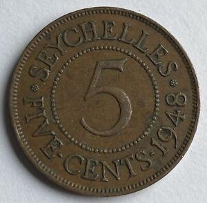 Seychelles 5 Cents 1948 (KM#7)