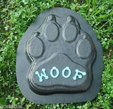 """Woof dog paw concrete mold 12"""" x 9"""" x 1"""" thick"""