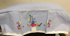 Vintage Minnie Mouse & Goofy Linens, Pillow Case & Table Cloth, Embroidered
