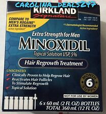 Kirkland Compare To Men's Rogaine Topical Solution Extra Strength 6 Month Supply