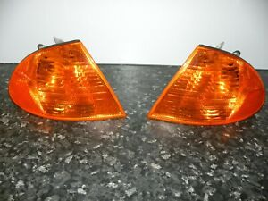 BMW e46 99-01 turn signal assemblys - Front Left & Front Right Amber lens -Bosch