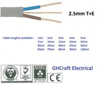 2.5 mm Twin and Earth T&E Electric Cable Wire | 6242Y | Various lengths | BASEC