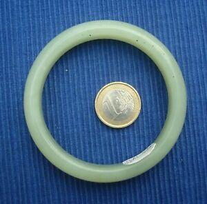 B23 Bracelet Jade Jadeite Bangle Lot Bijou Birmanie 6.3cm 48.4gr green