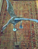 NICE LOOK VINTAGE AMERICAN FOLK ART SCULPTURE COPPER - FLYING DUCK WEATHERVANE